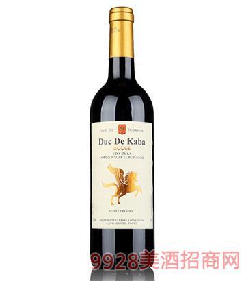 法国小飞马卡巴公爵干红葡萄酒750ml