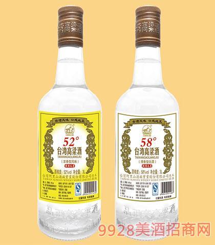 台湾高粱酒闽酒之星A60-42度52度58度3Lx4