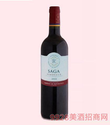 法国拉菲传说波尔多干红葡萄酒12.5度750ml