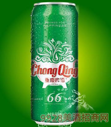 重庆啤酒66易拉罐啤酒500ml