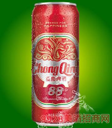 重庆啤酒88易拉罐啤酒500ml