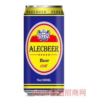 艾利客啤酒黄啤1号500ml