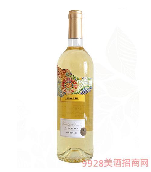 圣卡罗美景半干型白葡萄酒750ml