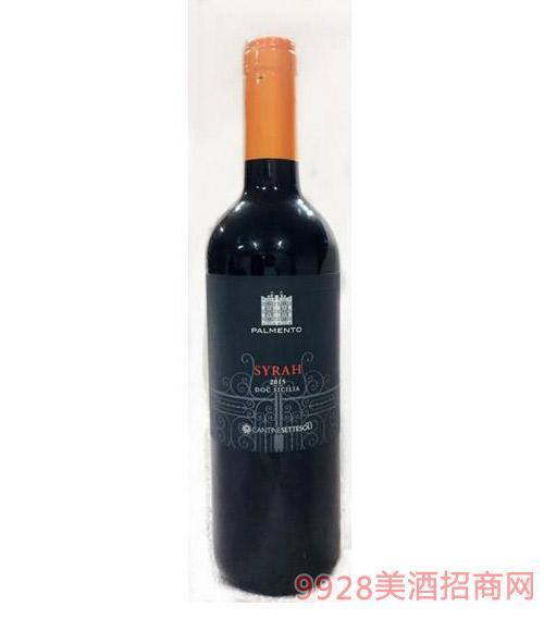 西西里帕曼拓西拉干红葡萄酒13.5度750ml