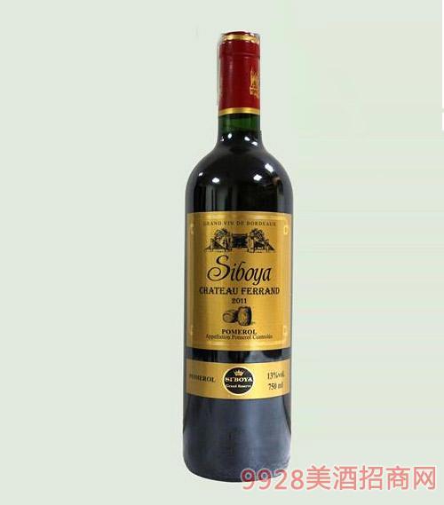 法国思博雅金樽限量版干红葡萄酒13度750ml