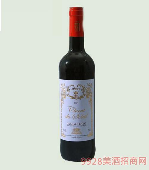 法国太阳之歌葡萄酒13度750ml