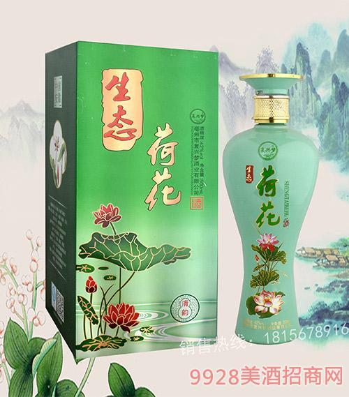 荷花(金卡)浓香型酒42度500ml