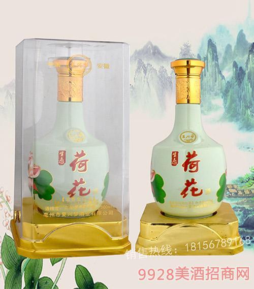 荷花(水晶盒)浓香型酒500ml