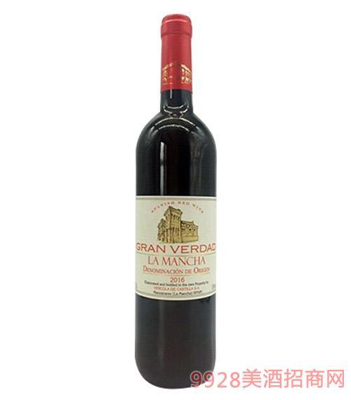 西班牙堂吉诃德真理干红葡萄酒13度750ml