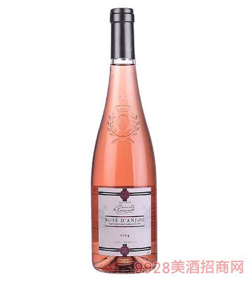法国安茹子爵半甜桃红葡萄酒10.5度750ml