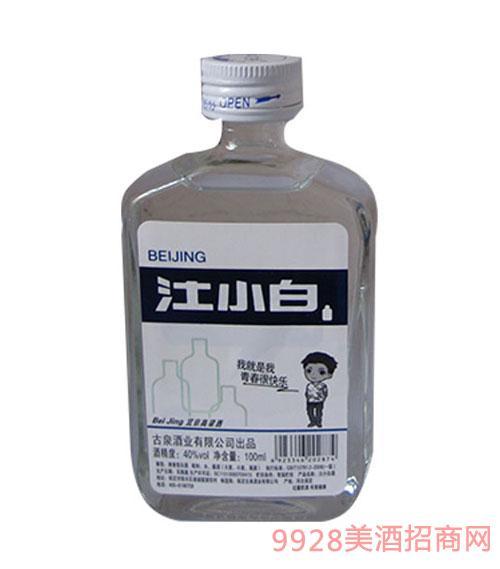 汢小白北京高粱酒清香型40度100ml