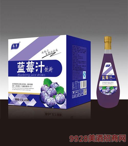 蓝莓汁汁饮料1.5Lx6瓶