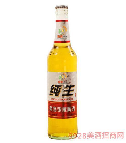 青岛银威纯生啤酒500ml