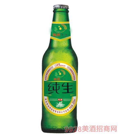 银威亲爽啤酒纯生啤酒绿瓶320ml