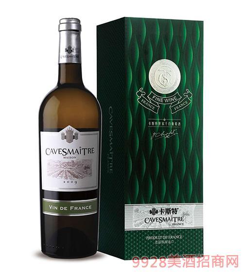 卡斯特世家干白葡萄酒12度750ml