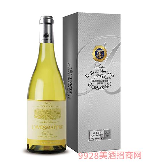 卡斯特世家半甜白葡萄酒11度750ml