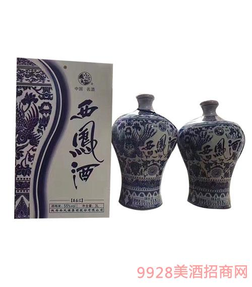 陕西西凤酒55度3L