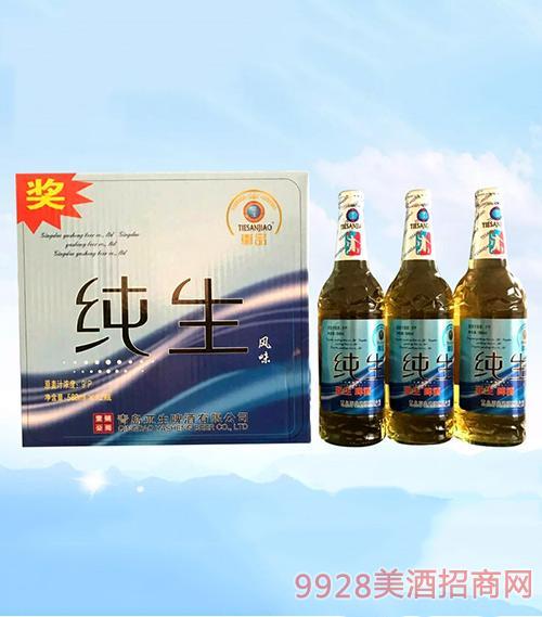 亚生啤酒纯生风味啤酒588ml