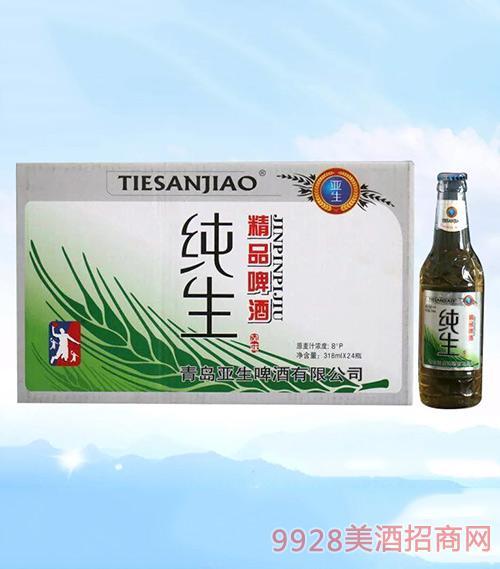亚生啤酒纯生啤酒318ml