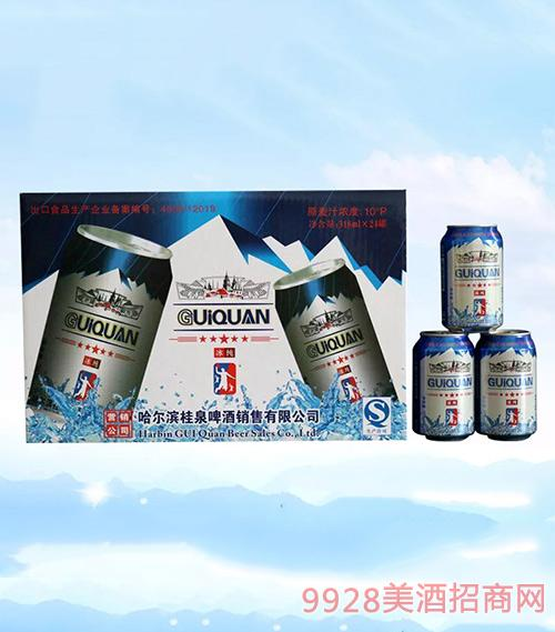 桂泉啤酒冰纯啤酒318ml