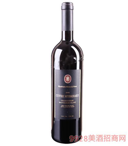 俄罗斯密斯哈克特醇干白葡萄酒750ml