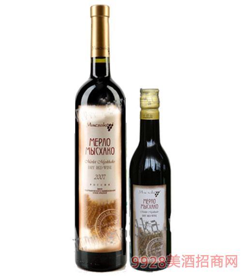 密斯哈克梅洛优品干红葡萄酒187ml 750ml