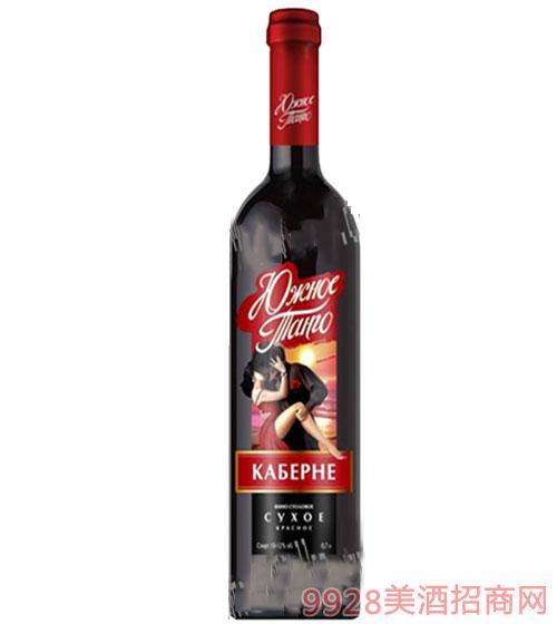 俄罗斯南探戈红葡萄酒750ml