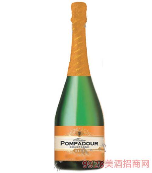 俄罗斯蓬帕杜香槟干起泡酒750ml