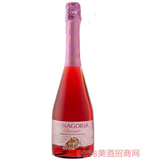 法纳玫瑰红半甜起泡酒750ml