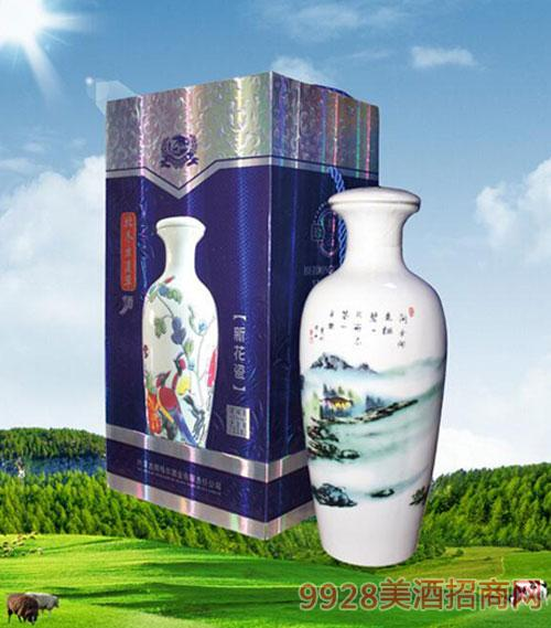 内蒙古新花瓷套装蛹虫草酒42度700ml
