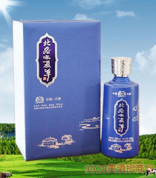内蒙古腾格尔蓝钻北冬虫夏草酒52度600ml