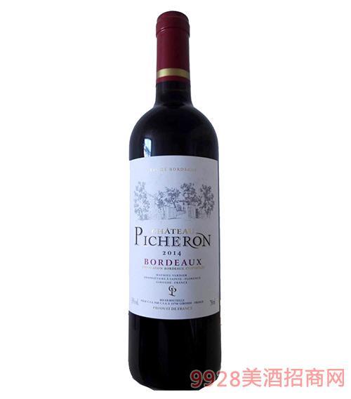 法国碧龙城堡干红葡萄酒2014 13度750ml