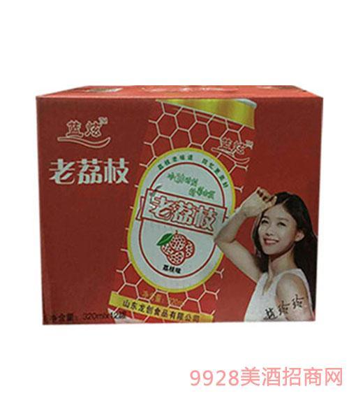 蓝炫老荔枝果啤320mlx12罐