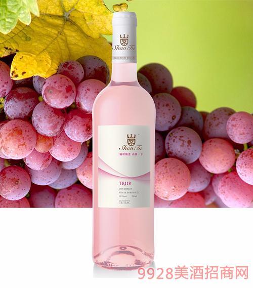 山图桃红葡萄酒TR118 12.5度750ml