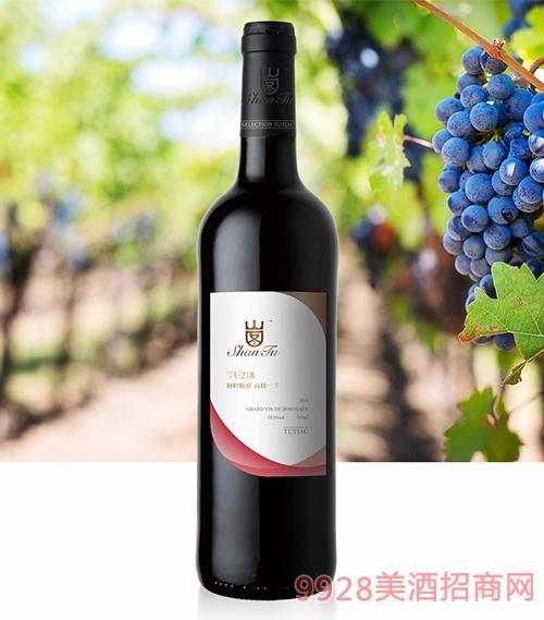 山图干红葡萄酒TU218 12.5度750ml