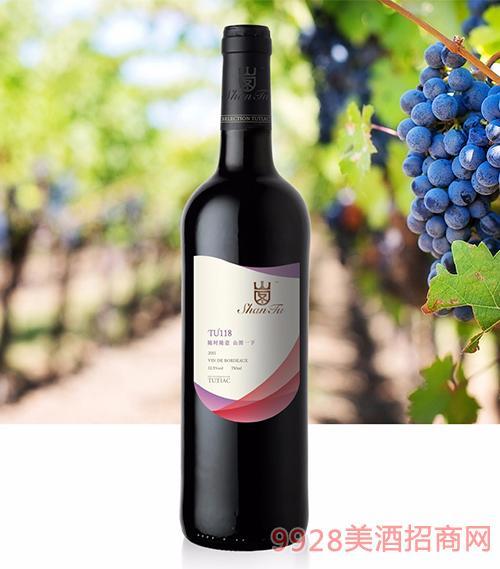 山图干红葡萄酒TU118 12.5度750ml