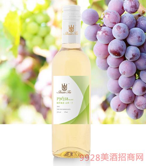 山图干白葡萄酒PWS58 12度750ml