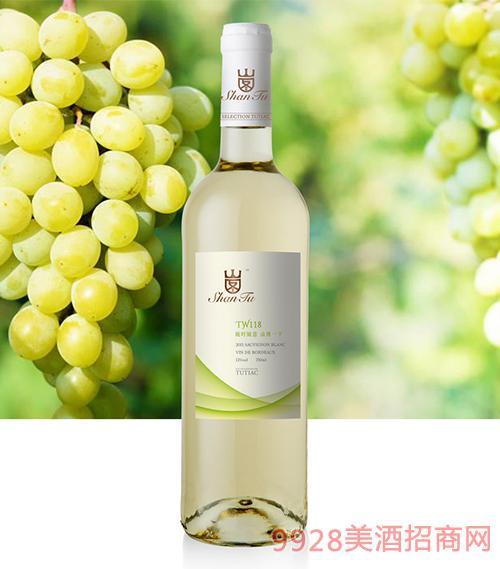 山图干白葡萄酒TW118 12.5度750ml