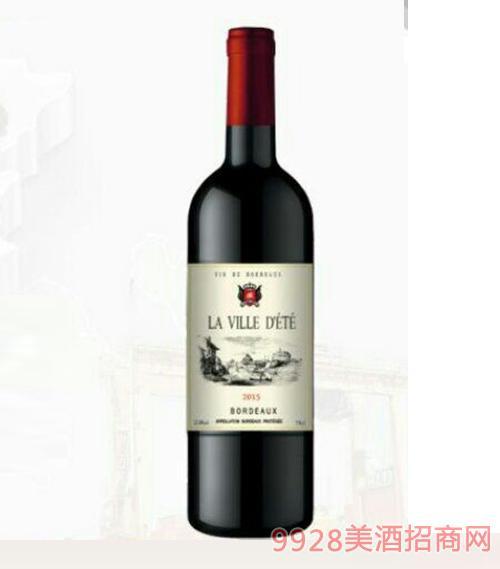 法国拉维特干红葡萄酒12.5度750ml