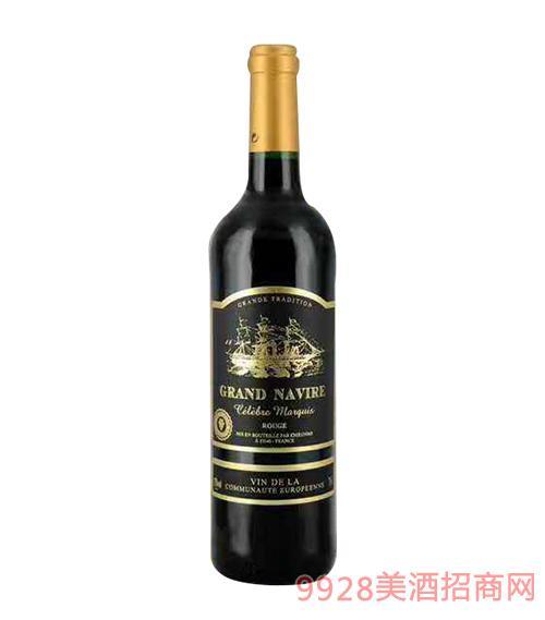 法国劲帆名人侯爵红葡萄酒13度750ml
