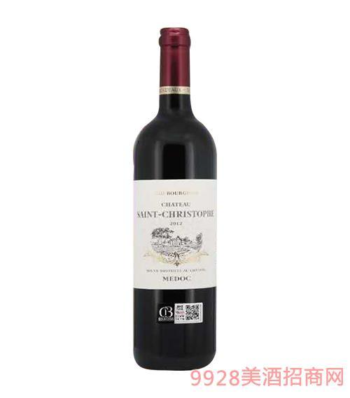 法国圣歌华城堡红葡萄酒12.5度750ml