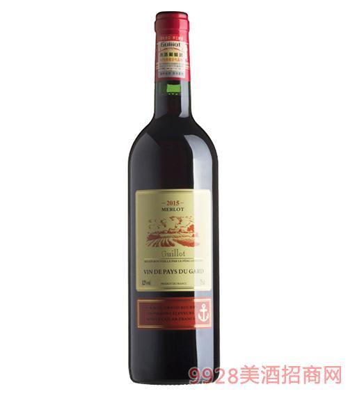 法国吉洛美露葡萄酒12度750ml