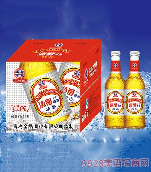 银池清醇啤酒500ml