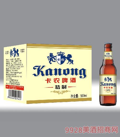 卡农啤酒精制500ml