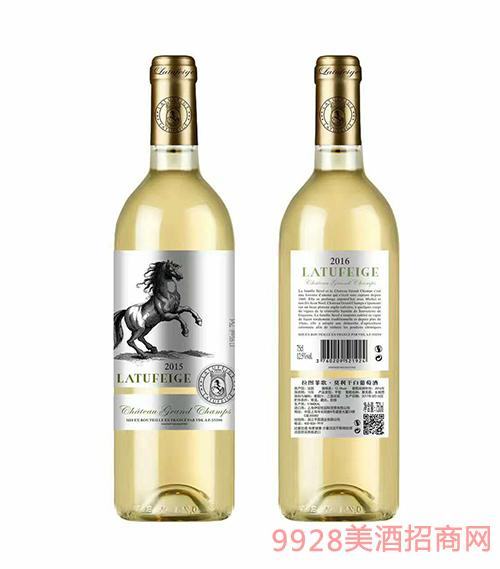 法国拉图菲歌莫利干白葡萄酒15度750ml
