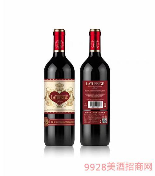 法国拉图菲歌爱蒙娜干红葡萄酒12度750ml