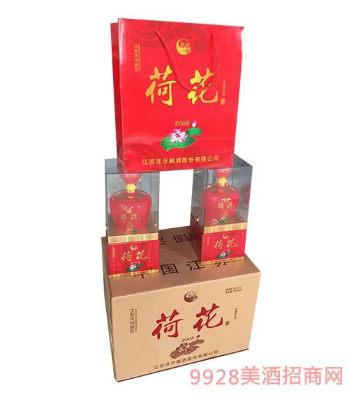 洋河镇荷花酒45度500mlx12浓香型白酒