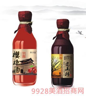 珍卫道手选樱桃酒、老山楂酒8度460mlx12
