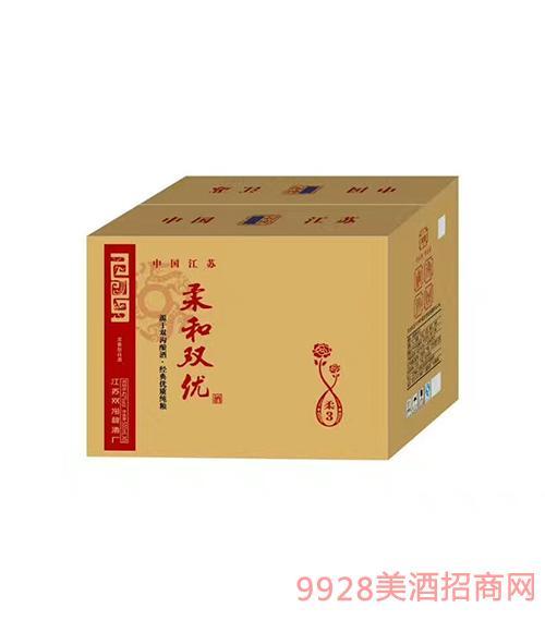 柔和双优酒浓香型箱装42度500ml
