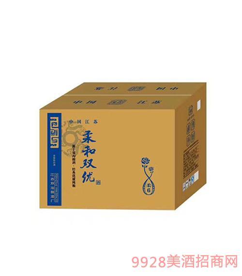 柔和双优酒柔6浓香型箱装42度500ml